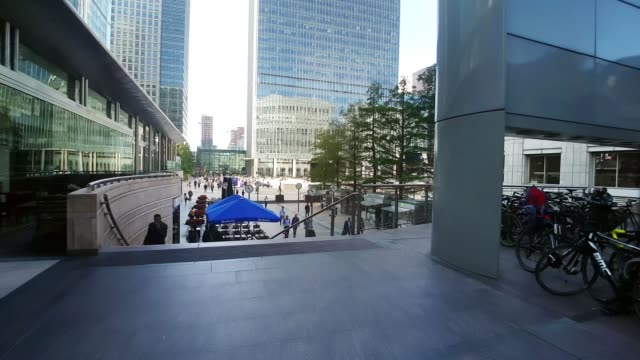 Bicycle Ride in London Canary Wharf
