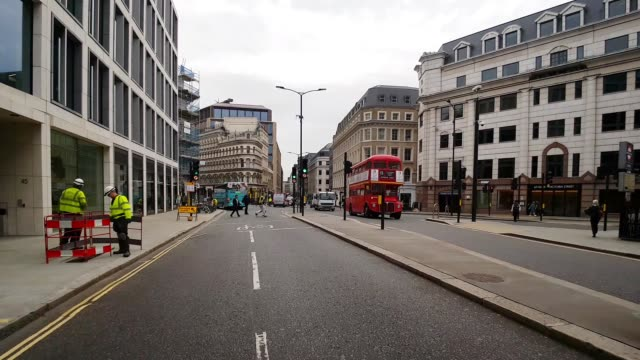 bicycle ride in london cannon street - road junction stock videos & royalty-free footage