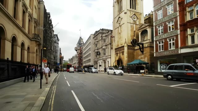 bicycle ride in london fleet street and the strand - double decker bus stock videos & royalty-free footage