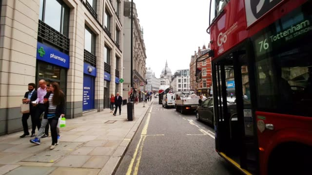 Bicycle Ride in London Fleet Street to the East