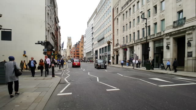 bicycle ride in london fleet street - royal courts of justice stock videos & royalty-free footage