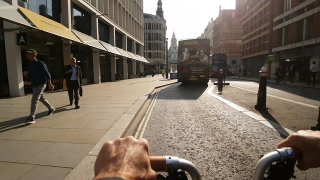 Bicycle Ride in London Ludgate Hill