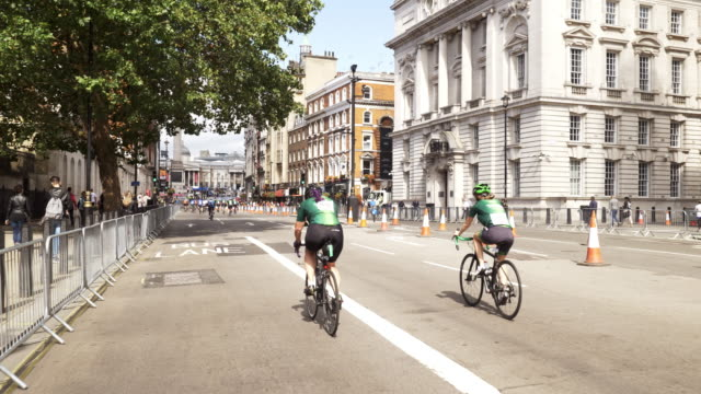 bicycle ride in london whitehall - whitehall london stock videos & royalty-free footage