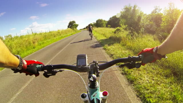 bicycle ride on the road - global positioning system stock videos & royalty-free footage