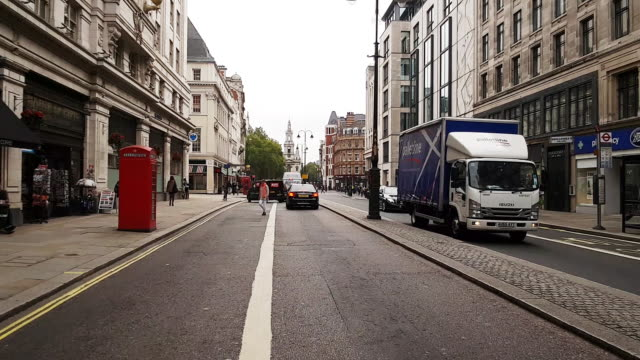 bicycle ride through london the strand road - the strand london stock videos and b-roll footage
