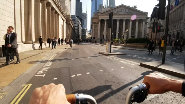 Bicycle Ride to Royal Exchange in London