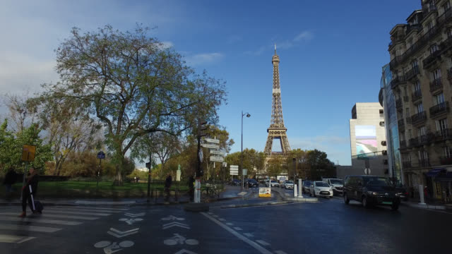 pov bicycle riding in the city life of paris - viewpoint stock videos & royalty-free footage