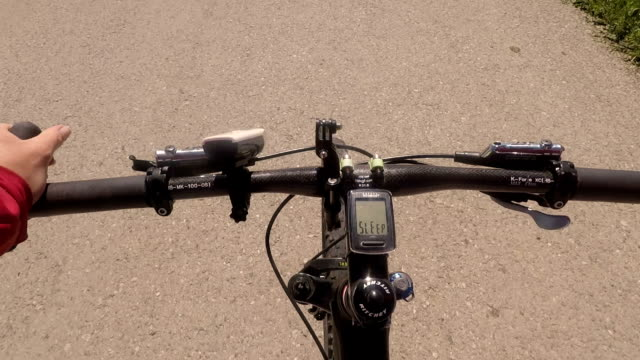 Bicycle riding,b roll.Point of view