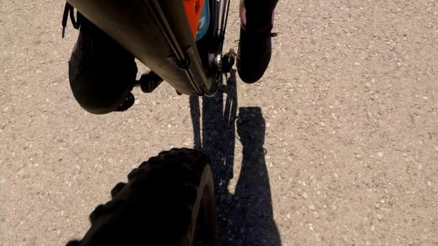Fahrrad fahren, b-Roll. Point Of view