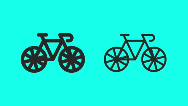 Bicycle Slow Speed - Vector Animate