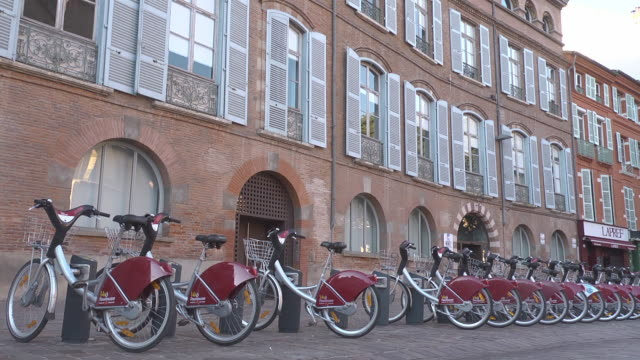bicycle station - bicycle parking station stock videos and b-roll footage