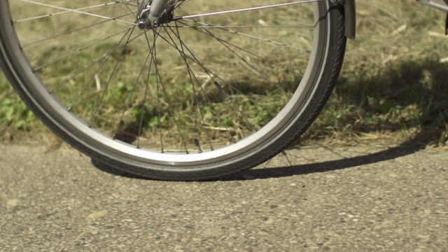 slow motion: bicycle wheel - wheel stock videos and b-roll footage