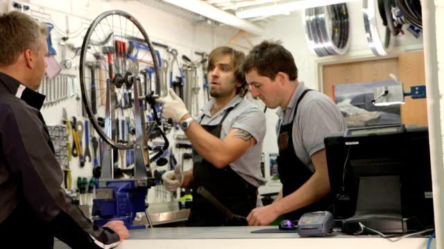 bicycle workshop - rebuilding stock videos and b-roll footage