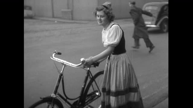 bicycles designs being tested and demonstrated; 1952 - 1952 stock videos & royalty-free footage
