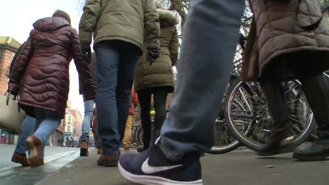bicycles on street - human leg stock videos & royalty-free footage