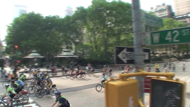 bicyclists past 42nd street bicyclists past 42nd street on january 01 2012 - salmini stock videos & royalty-free footage