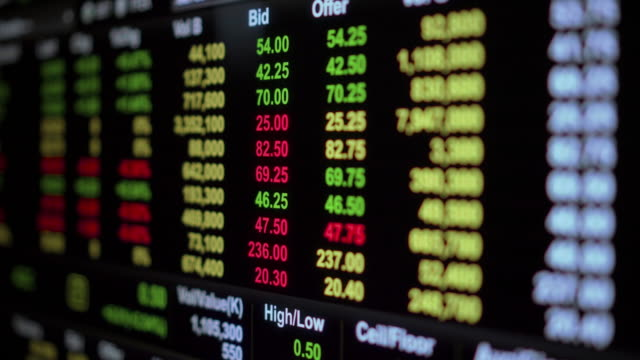 入札・提供、株式市場 - ナスダック点の映像素材/bロール