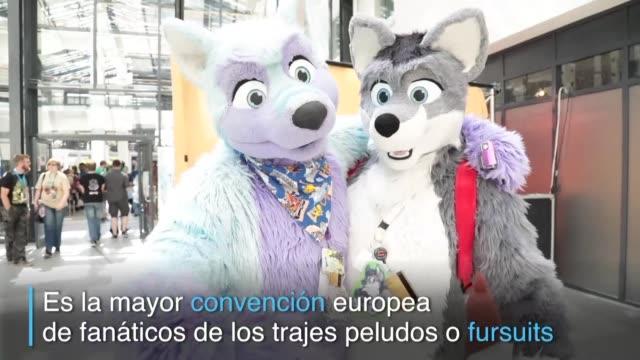 Bienvenidos a la mayor convencion europea de fanaticos de los trajes peludos o fursuits