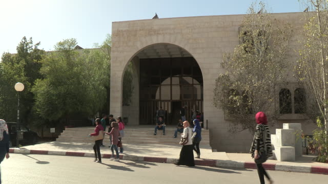 bierzet university entrance, ramallah, palestine - ramallah stock videos and b-roll footage