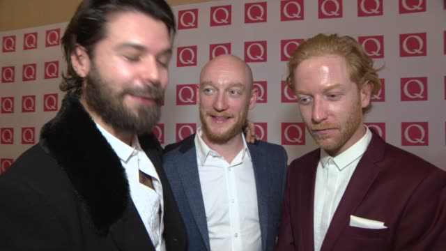 INTERVIEW Biffy Clyro on winning 'Best Album' award at Q Awards 2013 at The Grosvenor House Hotel on October 21 2013 in London England