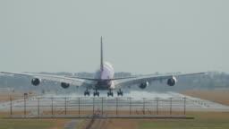 Big airplane landing
