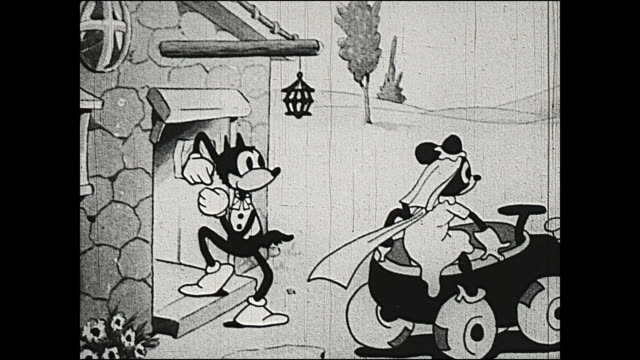 1931 big bad wolf runs away with 'young' grandma - runaway stock videos & royalty-free footage