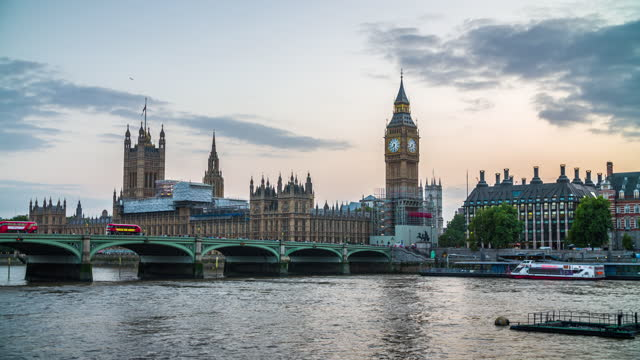 big ben and house of parliament in london, uk - big ben stock videos & royalty-free footage