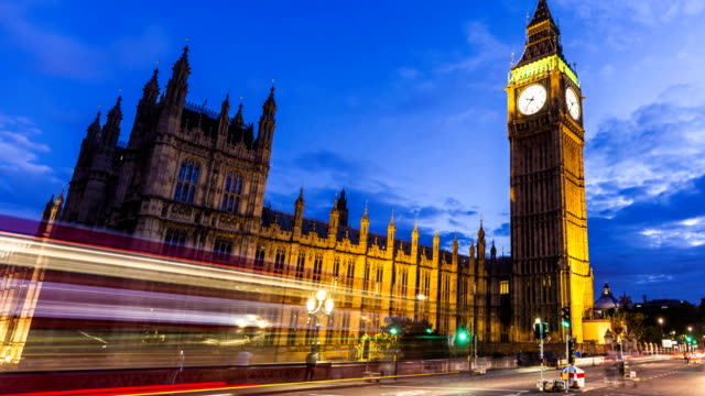 Big Ben und Parlament in London, Zeitraffer