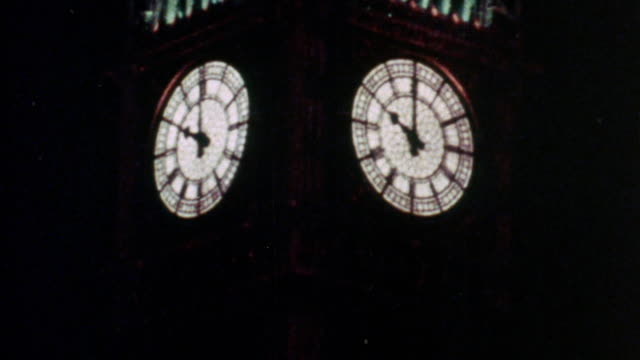 1973 montage big ben and political officials driving by in cars after parliament approved the united kingdom's entry to the eec in 1971 / westminster, london, england - parliament building stock videos & royalty-free footage