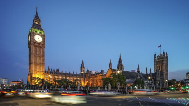 Big Ben and The Houses of Parliament day to night Time Lapse.