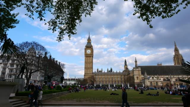 4k big ben and trafalgar square  in london, uk - trafalgar square stock videos & royalty-free footage