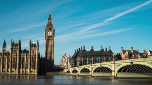 big ben and westminster bridge in london. - big ben stock videos and b-roll footage