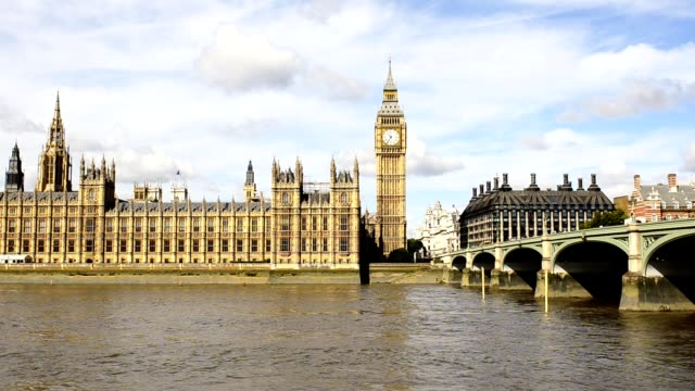 big ben and westminster bridge - house of commons stock videos & royalty-free footage