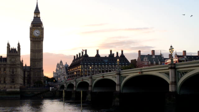 big ben at sunset - westminster bridge stock videos and b-roll footage