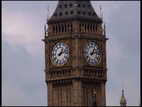 big ben clock closeup (london) - letterbox format bildbanksvideor och videomaterial från bakom kulisserna