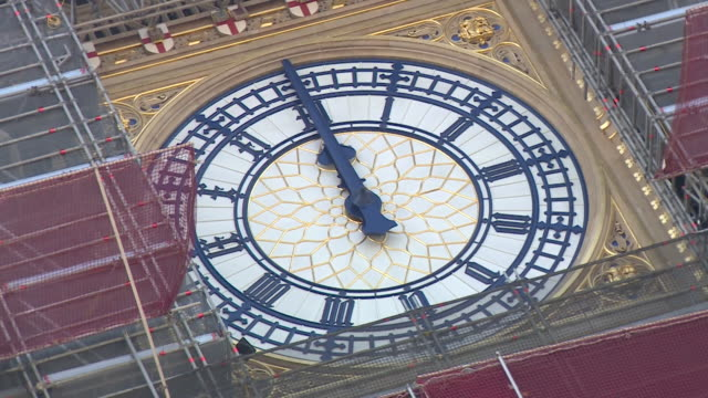big ben clock face showing midday on theresa may's last pmq's and her last day as prime minister - midday stock videos & royalty-free footage