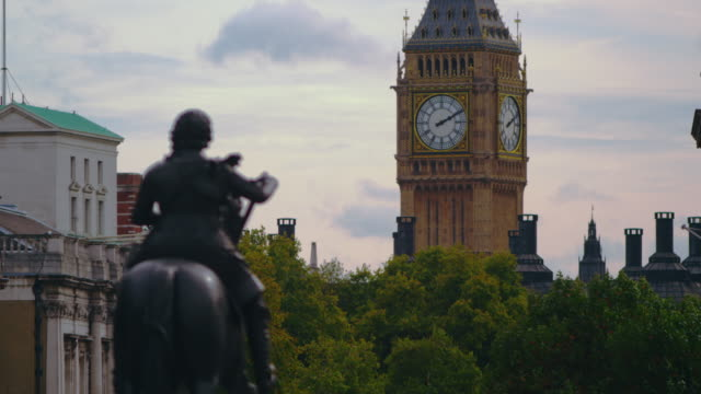 big ben from charing cross - uk video stock e b–roll