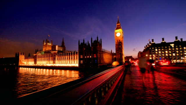 4k big ben, london eye and westminster abbey in london, uk - big ben stock videos & royalty-free footage