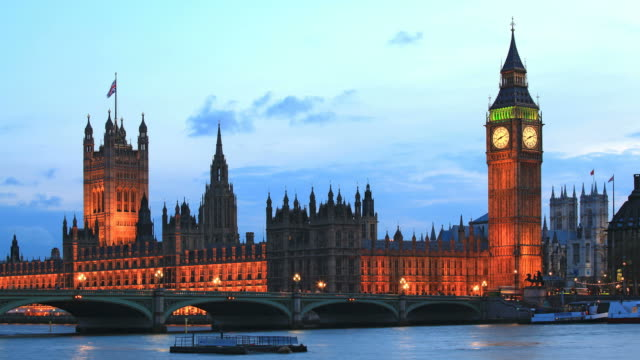 Big Ben London Time Lapse at Dusk