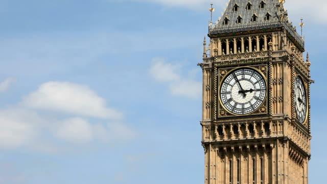 Big Ben, London, UK - time lapse.