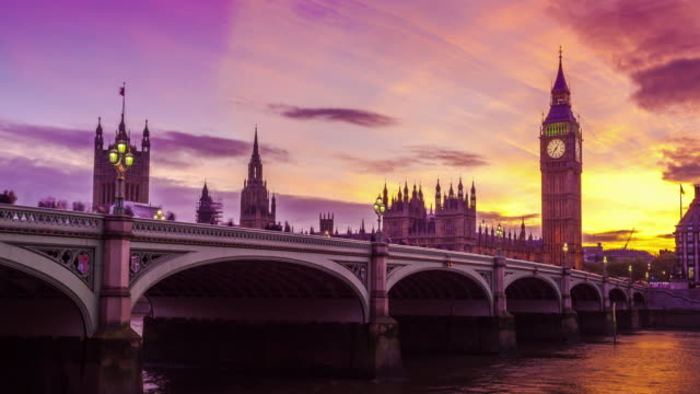 big ben, nice transition from day to night, london, uk - parliament building stock videos & royalty-free footage