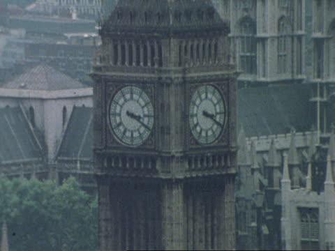 Big Ben overlooks the River Thames.