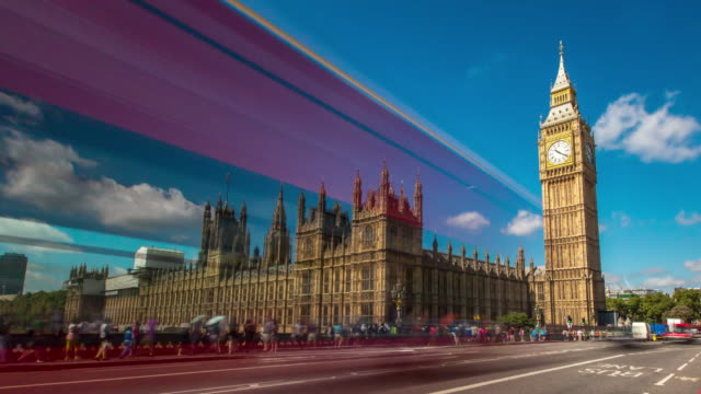 big ben parliament hyperlapse london - international landmark stock videos & royalty-free footage