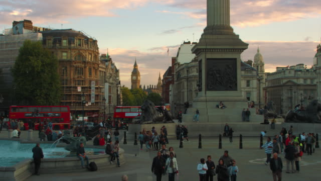 big ben seen from trafalgar square and nelson's column. - nelson's column stock videos & royalty-free footage