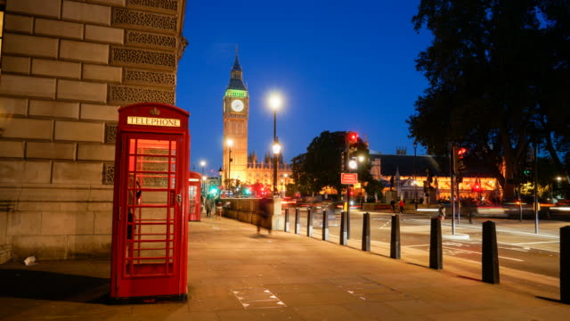 4k big ben, telephone booth and westminster abbey in london, uk - abbey stock videos & royalty-free footage