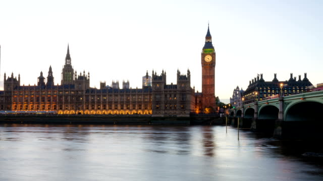 big ben timelapse - day to dusk stock videos & royalty-free footage