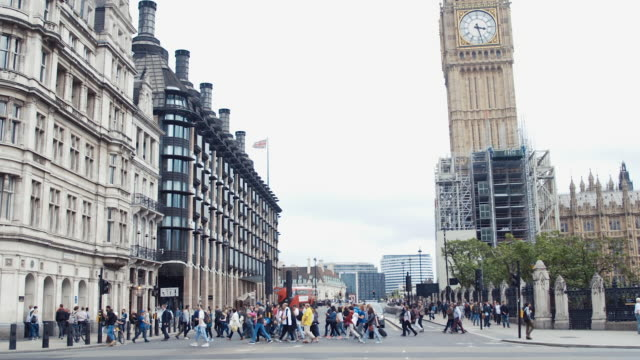 big ben (slow motion) - greater london stock videos and b-roll footage