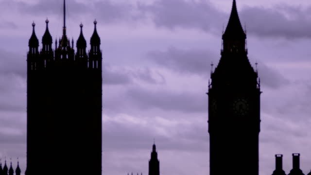 big ben, westminster and hungerford bridge - hungerford bridge stock videos & royalty-free footage