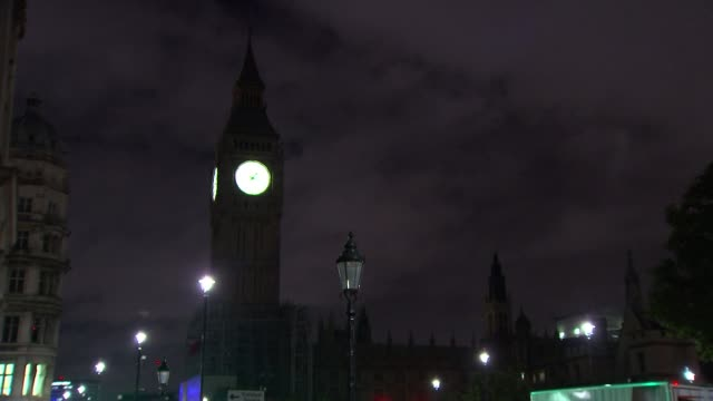big ben's ayrton light to be switched off during repair work westminster close shot of big ben clock face illuminated at night various shots of big... - itv london tonight weekend stock videos & royalty-free footage