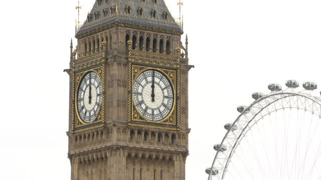 4K Big Ben's Final Bong For Four Years at Westminster Abbey on August 21 2017 in London England